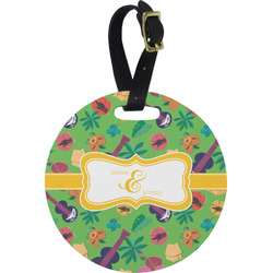 Luau Party Round Luggage Tag (Personalized)