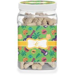 Luau Party Dog Treat Jar (Personalized)