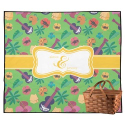 Luau Party Outdoor Picnic Blanket (Personalized)