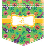 Luau Party Iron On Faux Pocket (Personalized)