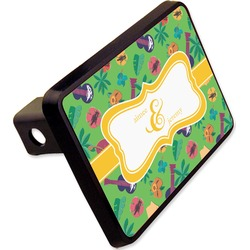 "Luau Party Rectangular Trailer Hitch Cover - 2"" (Personalized)"