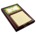 Luau Party Red Mahogany Sticky Note Holder (Personalized)