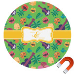 Luau Party Round Car Magnet (Personalized)