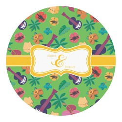 Luau Party Round Decal - Small (Personalized)
