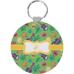 Luau Party Round Keychain (Personalized)