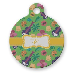 Luau Party Round Pet Tag (Personalized)