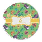 Luau Party Sandstone Car Coasters (Personalized)