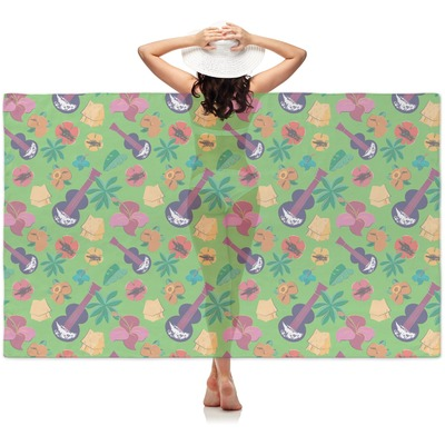 Luau Party Sheer Sarong (Personalized)