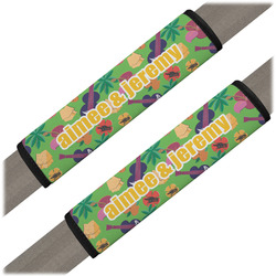 Luau Party Seat Belt Covers (Set of 2) (Personalized)