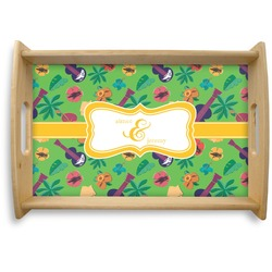 Luau Party Natural Wooden Tray (Personalized)