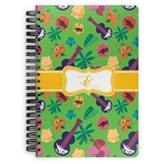 Luau Party Spiral Bound Notebook (Personalized)