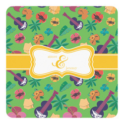 Luau Party Square Decal - Medium (Personalized)