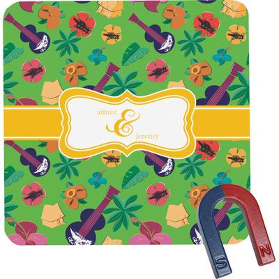 Luau Party Square Fridge Magnet (Personalized)