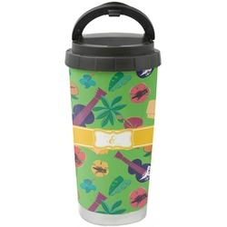 Luau Party Stainless Steel Travel Mug (Personalized)