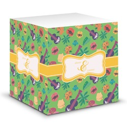 Luau Party Sticky Note Cube (Personalized)