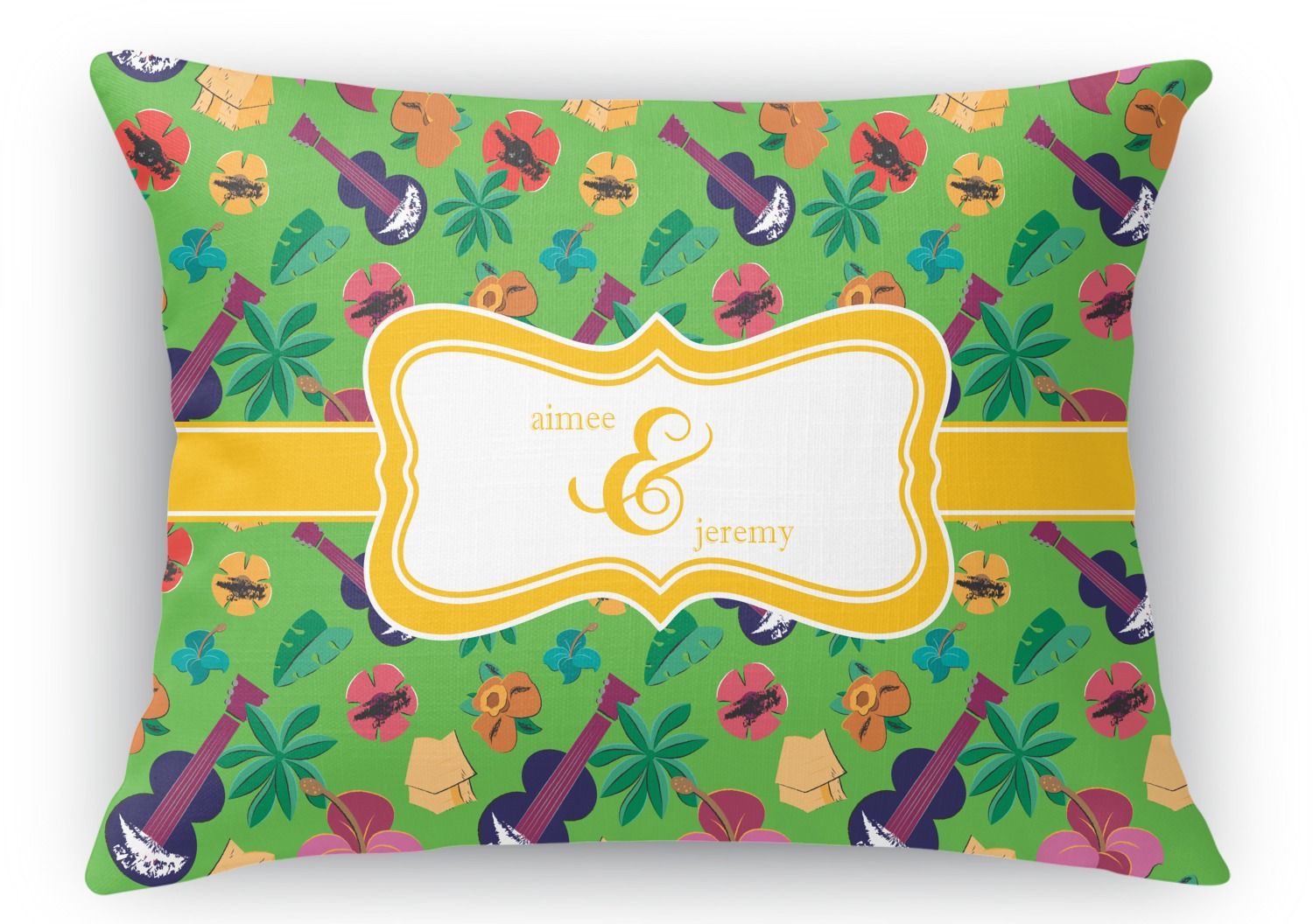 Rectangular Throw Pillow Dimensions : Luau Party Rectangular Throw Pillow - 18