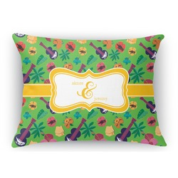 Luau Party Rectangular Throw Pillow Case (Personalized)