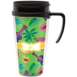 Luau Party Travel Mug with Handle (Personalized)