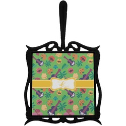 Luau Party Trivet with Handle (Personalized)