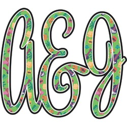 Luau Party Monogram Decal - Custom Sized (Personalized)