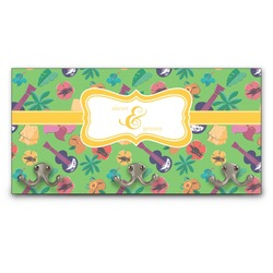 Luau Party Wall Mounted Coat Rack (Personalized)