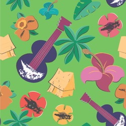 """Luau Party Wallpaper & Surface Covering (Peel & Stick 24""""x 24"""" Sample)"""
