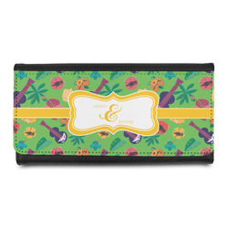 Luau Party Leatherette Ladies Wallet (Personalized)