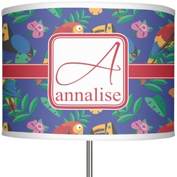 """Parrots & Toucans 13"""" Drum Lamp Shade Polyester (Personalized)"""