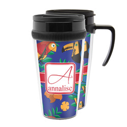 Parrots & Toucans Acrylic Travel Mugs (Personalized)