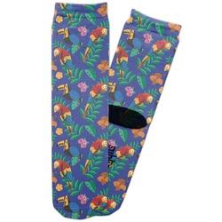 Parrots & Toucans Adult Crew Socks (Personalized)