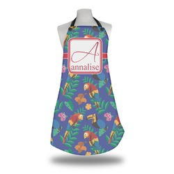 Parrots & Toucans Apron w/ Name and Initial