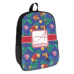 Parrots & Toucans Kids Backpack (Personalized)
