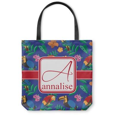 Parrots & Toucans Canvas Tote Bag (Personalized)