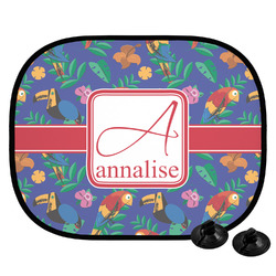 Parrots & Toucans Car Side Window Sun Shade (Personalized)