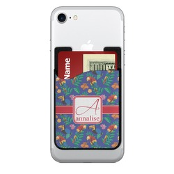 Parrots & Toucans 2-in-1 Cell Phone Credit Card Holder & Screen Cleaner (Personalized)