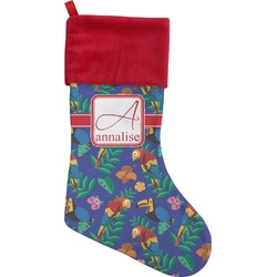 Parrots & Toucans Christmas Stocking (Personalized)