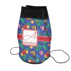 Parrots & Toucans Neoprene Drawstring Backpack (Personalized)