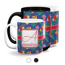 Parrots & Toucans Coffee Mugs (Personalized)