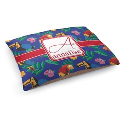 Parrots & Toucans Dog Pillow Bed (Personalized)