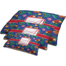Parrots & Toucans Dog Bed w/ Name and Initial