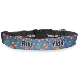 Parrots & Toucans Deluxe Dog Collar (Personalized)