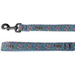 Parrots & Toucans Deluxe Dog Leash (Personalized)