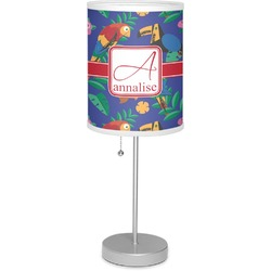 "Parrots & Toucans 7"" Drum Lamp with Shade (Personalized)"