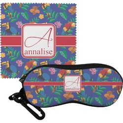 Parrots & Toucans Eyeglass Case & Cloth (Personalized)