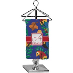 Parrots & Toucans Finger Tip Towel - Full Print (Personalized)