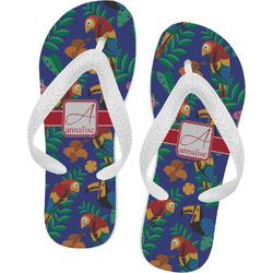 Parrots & Toucans Flip Flops (Personalized)