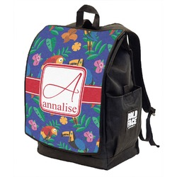 Parrots & Toucans Backpack w/ Front Flap  (Personalized)