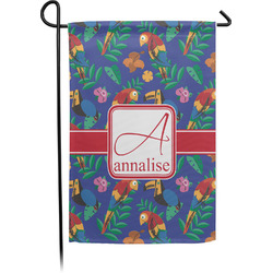 Parrots & Toucans Single Sided Garden Flag With Pole (Personalized)