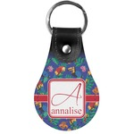 Parrots & Toucans Genuine Leather  Keychain (Personalized)