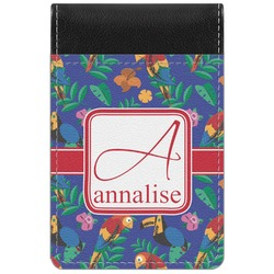 Parrots & Toucans Genuine Leather Small Memo Pad (Personalized)